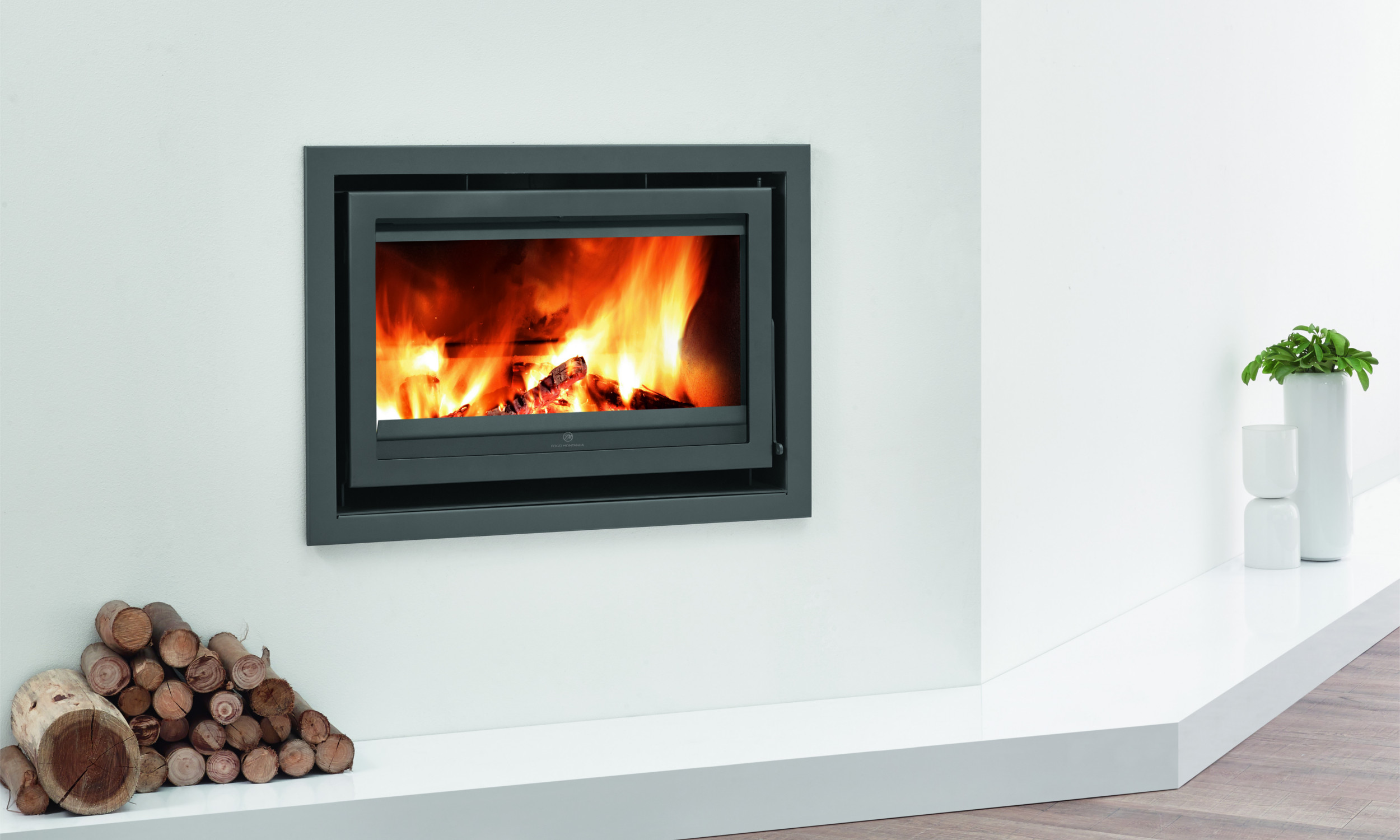 Mendip Stoves Christon 900 Flatline Inset