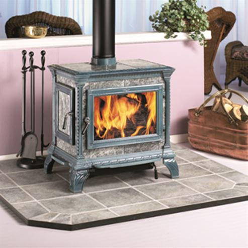 Picture of Heritage Soapstone Clad Stove - Blue Enamel