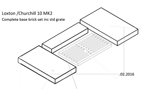 Picture of L/Ch 10kW Brick - Part Base Set ( EMG grate to plain grate conversion)