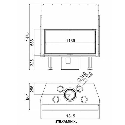 Picture of Stilkamin XL - 1120 x 520mm Glass Panel